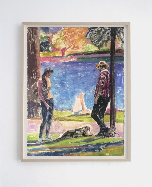 Lakeside 3. 76x57cm_framed