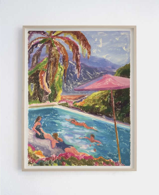Pool 1. 76x57cm_framed